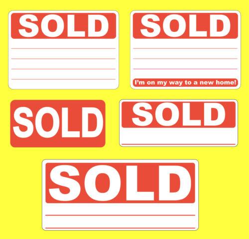 Swing Etichette Cartellini//Etichette Rosso Sold Adesivi Rimovibile
