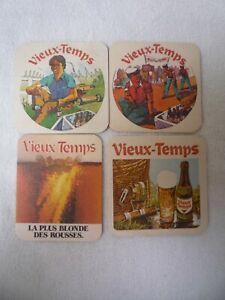 4  oude bierviltjes   VIEUX-TEMPS     sous bocks vieux                /