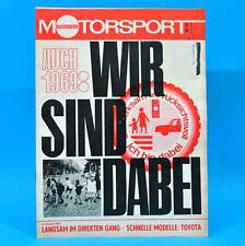 DDR Illustrierter Motorsport IMS 6/1969 Toyota 1600 2000 GT Rallye Elbflorenz Q