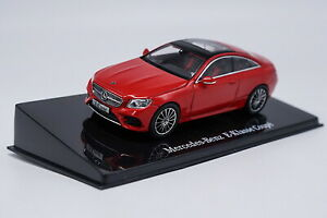 1-43-Mercedes-Benz-E-Class-Coupe-Red-Diecast-Car-Model-Collection