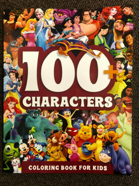 100 Disney Pixar Characters Coloring Book For Kids For Sale Online EBay