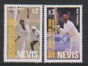 GéNéReuse Nevis - 2000, West Indies Cricket Tour Set-neuf Sans Charnière-sg 1524/5