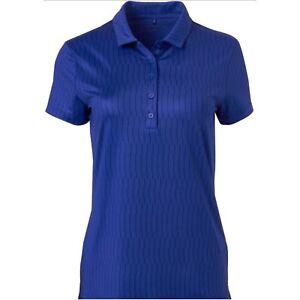 Details about New - Genuine Nike Golf Women's Icon Print Royal Blue Polo Shirt Size XL UK 16