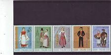 FINLAND - SG823-827 MNH 1972 NATIONAL COSTUMES