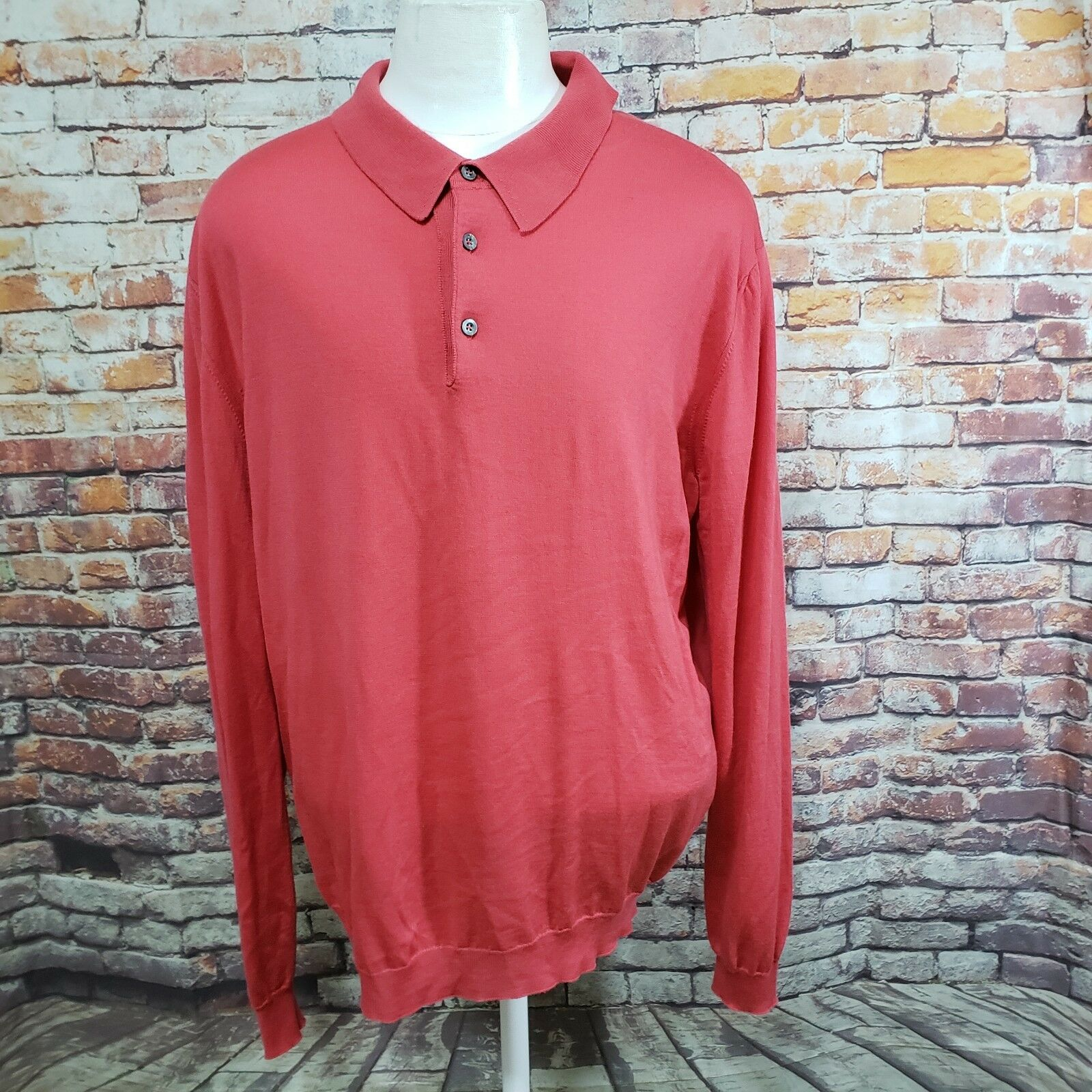 AVON CELLI Herren 100% WOOL POLO SWEATER SIZE XXL (58 EU) A26-04