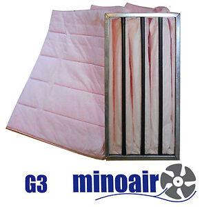Taschenfilter-G3-265-x-465-x-200-mm-Grobstaubfilter-Vorfilter-Industrie-Gastro