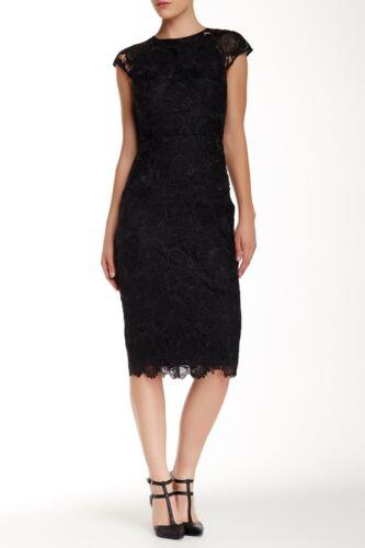 Midi Ted Dress Baker 6 uk Black £400 Lace Size Rrp Raenna 0 WTqISOq
