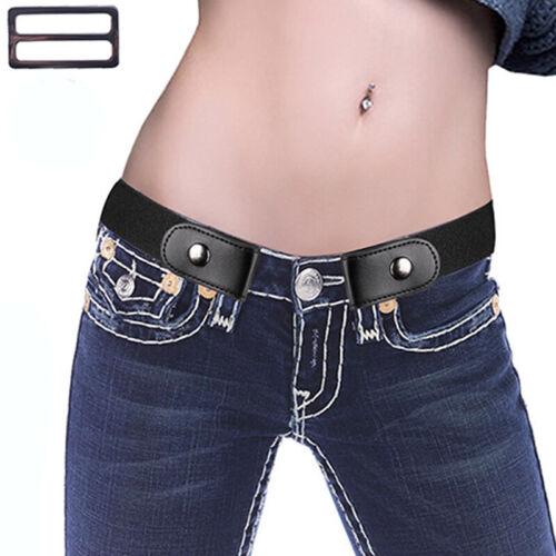 Damen Herren Gürtel Unsichtbar Elastisch Jeans Hose Stretchgürtel ohne Schnalle