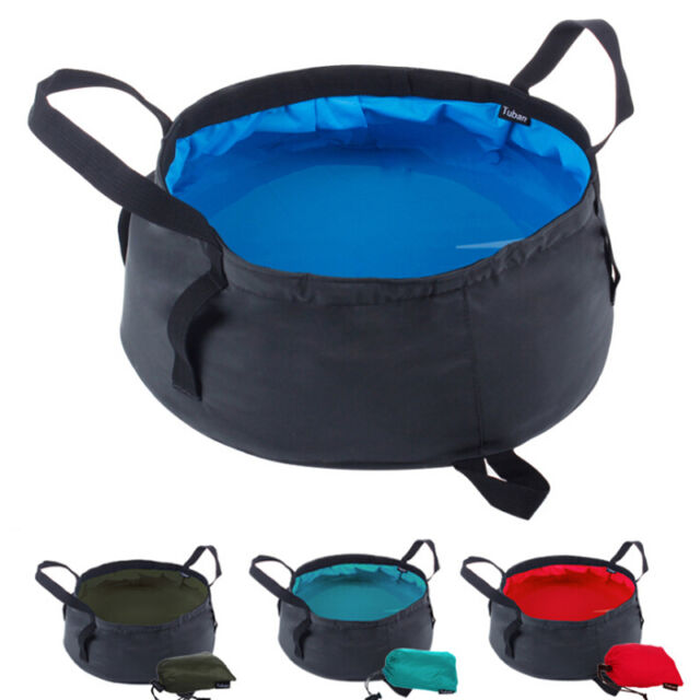 8.5L Outdoor Camping Travel Folding Fodable Water Washing Bowl Bath Basin Bag