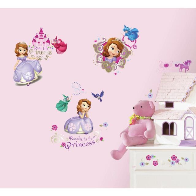 Sofia The First Wall Stickers 37 Decals Disney Princess Purple Room Decor