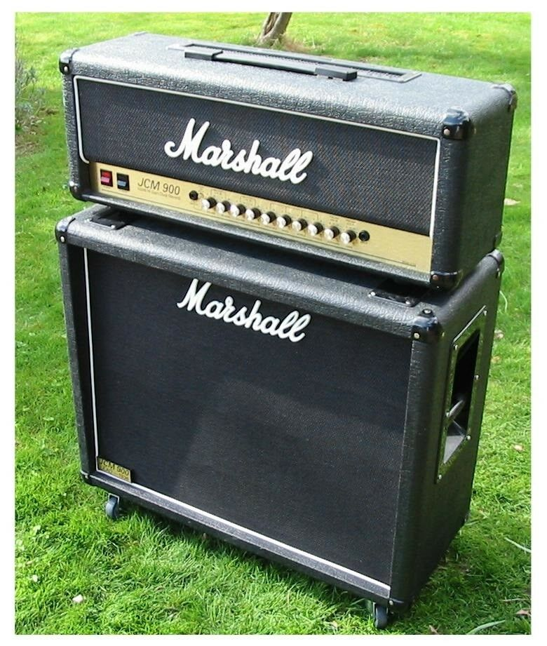 Guitaranlæg, Marshall JCM900 + 1936 Lead kab Model 4100,