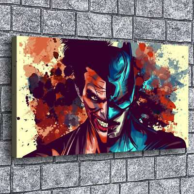 Batman and Joker HD Canvas Print Painting Home Decor room Wall Art Picture 1406
