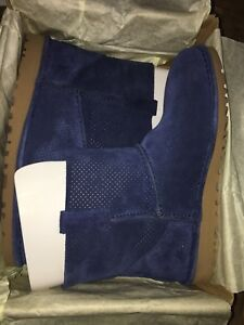 7974f273e7c Details about UGG Australia Unlined Classic Mini Perf Suede Boots 1016852