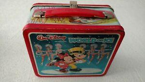 Walt-Disney-039-s-Wonderful-World-on-Ice-Lunchbox-034-Vintage-034-Mickey-amp-Minnie-Mouse