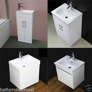 Vanity unit cabinet basin sink bathroom floorstanding wall for Floor standing corner bathroom cabinet