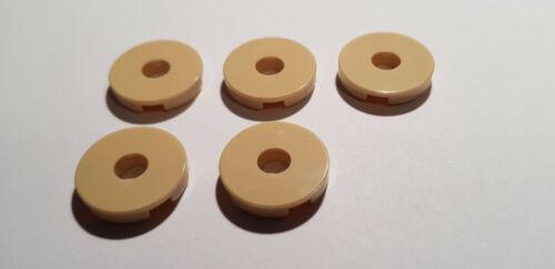 LEGO® 5 x 15535 Fliese rund 2 x 2 mit Loch beige 6115248 N70 Technik Tan