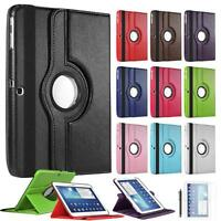 """360 Rotate Leather Stand Case Cover For Galaxy Tab 3 10.1"""" P5200 P5220 P5210"""