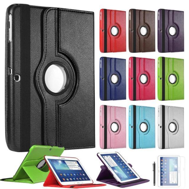 Custodia Cover Stand Pelle Rotazione 360° Samsung Galaxy Tab 2 3 4 S Note 10 8 7