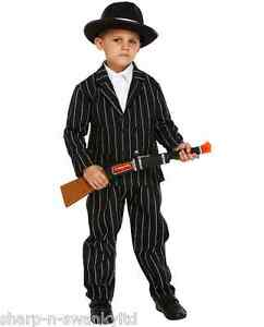 Boys Childs 1920s Gangster Gangsta Mafia Bugsy Malone Fancy Dress ...