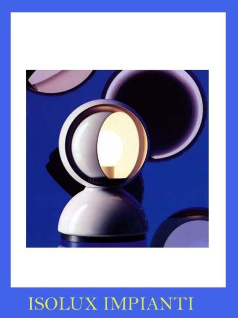 ARTEMIDE ECLISSE LAMPADA DA TAVOLO COLORE BIANCO LAMPADINA OSRAM E14 18W FORNITA