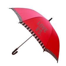 Victoria's Secret Umbrella BRIGHT PRETTY CORAL PINK Large Size NWT RARE OVERSIZE