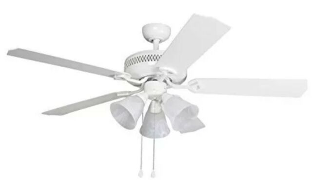 Harbor Breeze Barnstaple Bay 52 In White Indoor Downrod Mount Ceiling Fan With