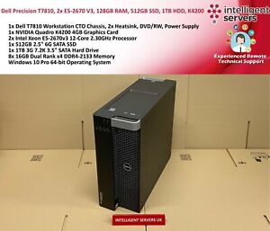 Dell-Precision-T7810-2x-E5-2670V3-128GB-DDR4-512GB-SSD-1TB-HDD-Quadro-K4200