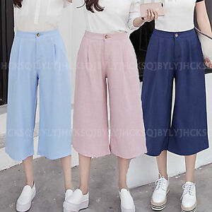 High waisted wide leg ladies white jeans
