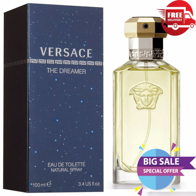 separation shoes 50fc2 1ea35 VERSACE THE DREAMER 100ML EDT SPRAY FOR MEN NEW SEALED BOX PERFECT GIFT FOR  HIM