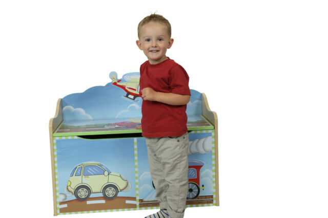Transportation Toy chest by Teamson ~ Fantasy Fields