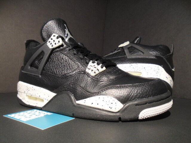 Nike air jordan iv 4 retrò e oreo nero fico tech cemento grigio og 314254-003 8