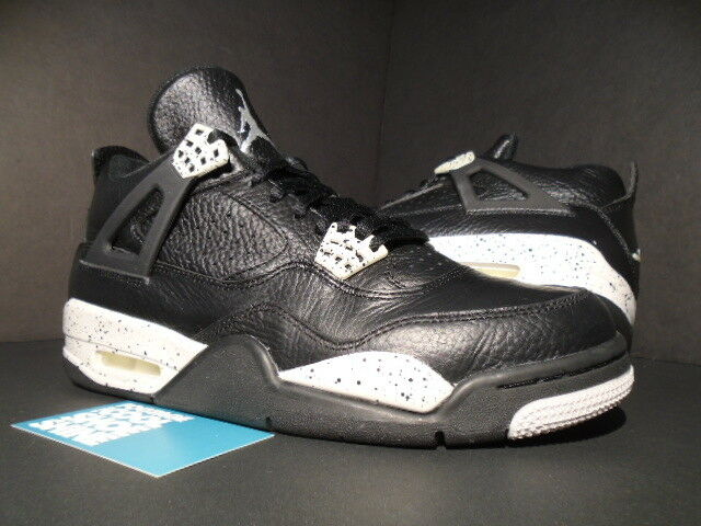 Nike Air Jordan IV 4 Retro LS OREO BLACK COOL TECH GREY CEMENT OG 314254-003 8