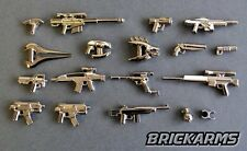 BRICKARMS Chrome-SciFi Apoc Weapon Pack for Lego Minifigures Limited Edition