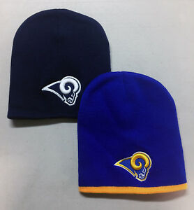 best loved db759 25496 Image is loading Los-Angeles-Rams-Short-Beanie-Skull-Cap-Hat-
