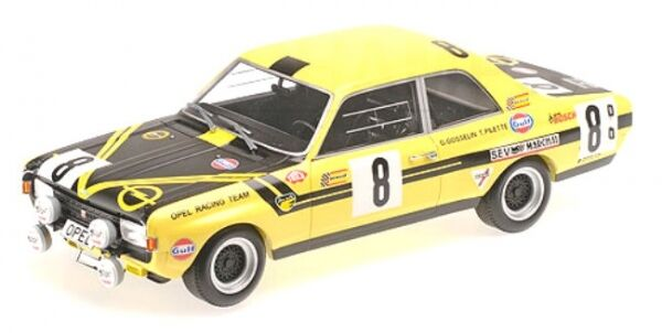 OPEL COMMODORE A PIETRA Metz TUNING NO. 8 24h SPA 1970  T. PILETTE-G. Gosselin