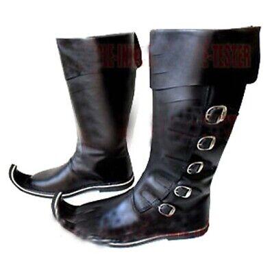 Mens Medieval Boots Men Back Buckle Sca Renaissance Period Boots Shoes Footwear
