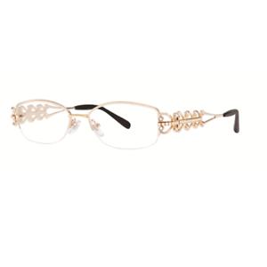 805727b4b81d4 Image is loading Caviar-Rimless-1674-C21-Austrian-Crystals-Gold-Eyeglasses-