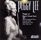 Peggy at Basin Street East by Peggy Lee (Vocals) (CD, Jul-2002, Collectors' Choice Music)