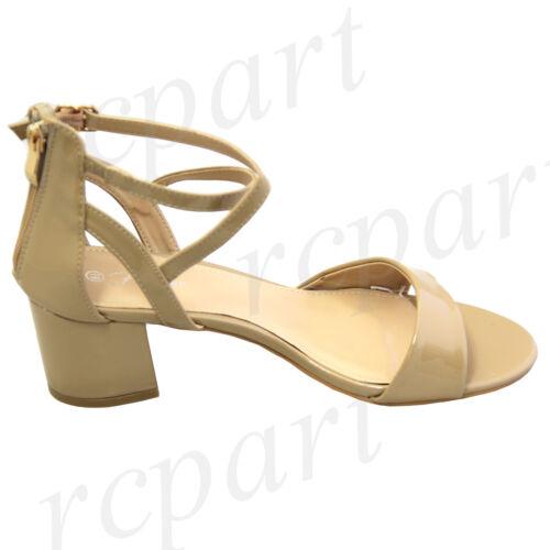 New women/'s shoes open toe block heel zipper sandals taupe fashion casual work