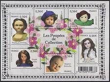 2009 FRANCE BLOC N°F4394** BF  Poupées de collection, feuillet 2009, sheet MNH