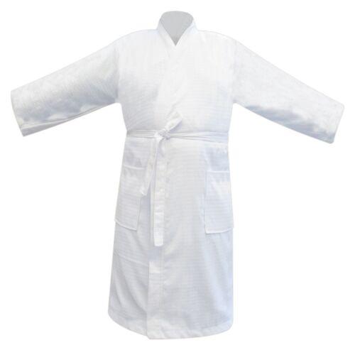 Hommes /& Femmes 100/% Coton Terry Waffle Peignoir Robe de chambre peignoir blanc