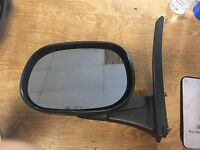 1998-2003 Dodge Ram Van Lh Driver Side Mirror Door Full Size Van Black