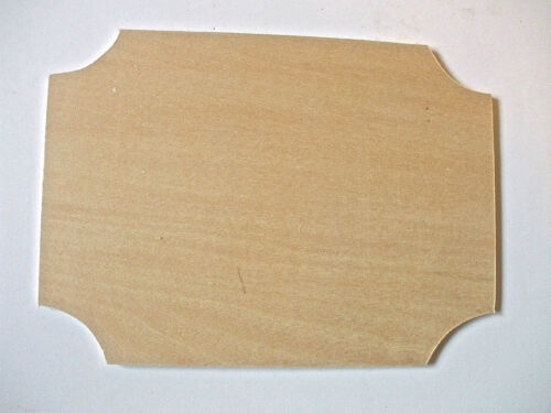 Wooden Shape Corner Shape Plaque Pack of 2 or 4 Wood Embellishment blank plaques