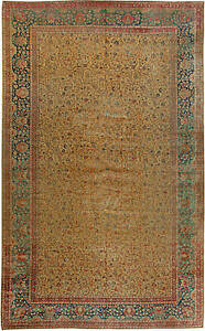 Persian Tabriz Antique Rug Bb6106 Making Things Convenient For The People Rugs & Carpets