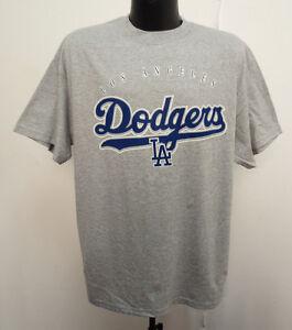 LOS ANGELES DODGERS SHIRT PRINTED NEW MLB BASEBALL LA GREY MENS COOL ... 40c059d3d33