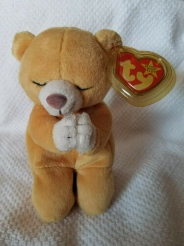TY Hope the praying bear beanie baby with tag errorsPRICE REDUCED