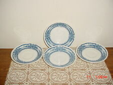 """4-PC J & G MEAKIN """"AMERICAN HERITAGE"""" COLONIAL BLU-WHT 5 3/4"""" SAUCERS/CLEARANCE!"""