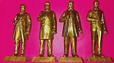"""4 Vintage GOLD Marx US Presidents,18th,19th, 21st, 28th, 2.75"""" figures, GRANT VG"""