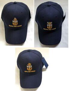 8e293705f27 US Navy RETIRED Chief Petty Officer Ball Cap Senior Master CPO SCPO ...