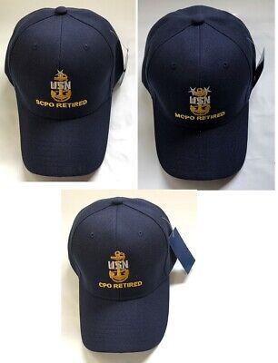 US Navy RETIRED Chief Petty Officer Ball Cap Senior Master CPO SCPO MCPO  Hat ANC | eBay